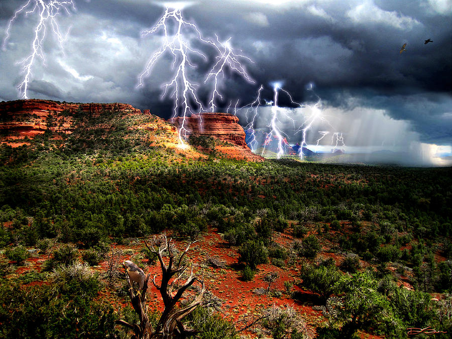 Sedona Photograph - Passing Storm Near Sedona Arizona by Ric Soulen