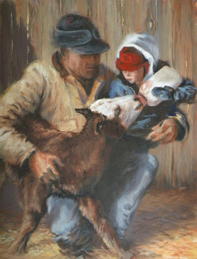 Ranching Painting - Passing The Torch by Mia DeLode