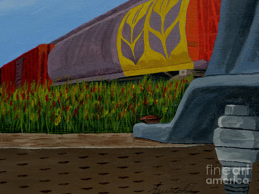 Train Painting - Passing The Wild Ones by Anthony Dunphy