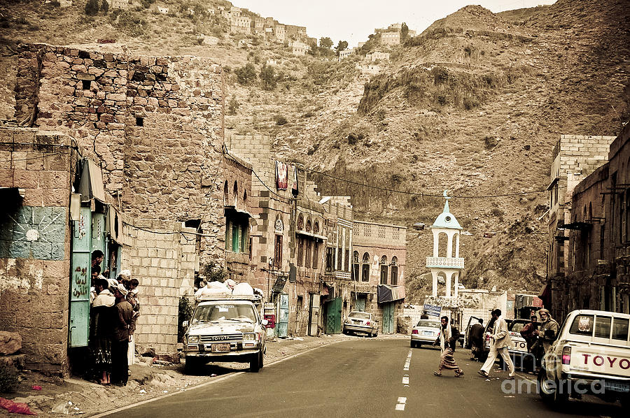 Middle East Photograph - Passing Through A Village by Charuhas Images