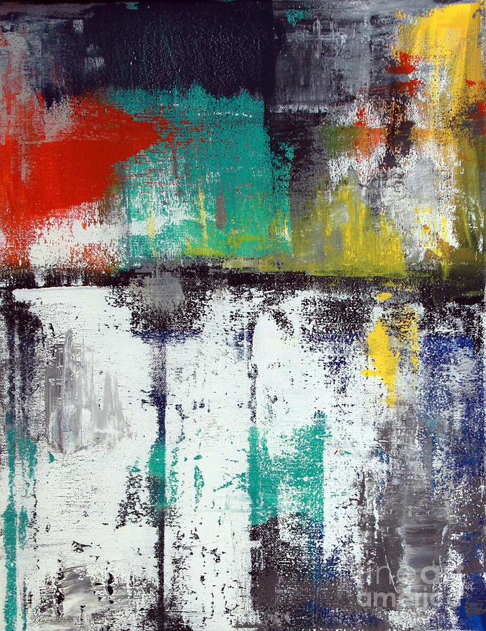 Abstract Painting - Passing Through by Linda Woods