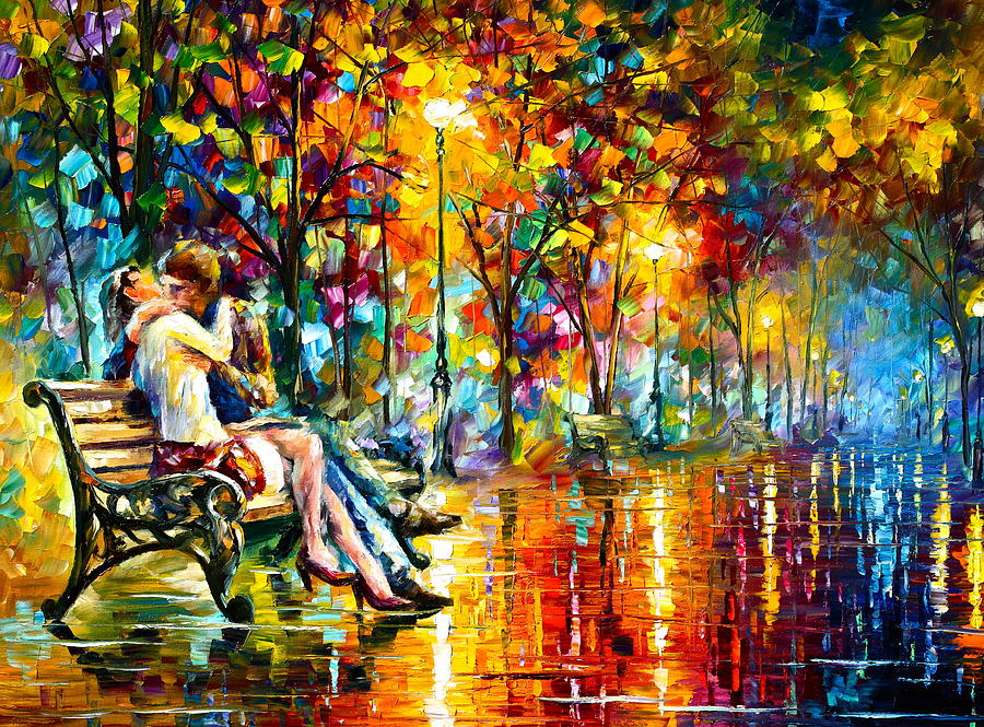 Couple Painting - Passion Evening -  New by Leonid Afremov