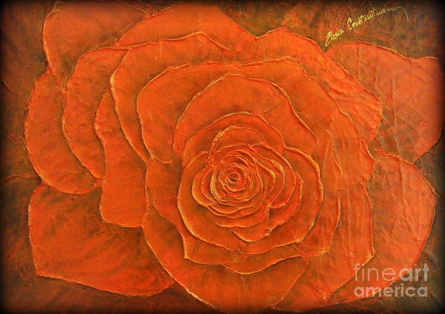 Rose Painting - Passion II by Elena  Constantinescu