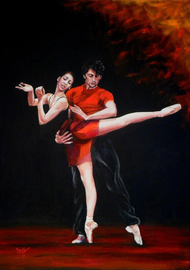 Ballet Painting - Passion In Red by Maren Jeskanen