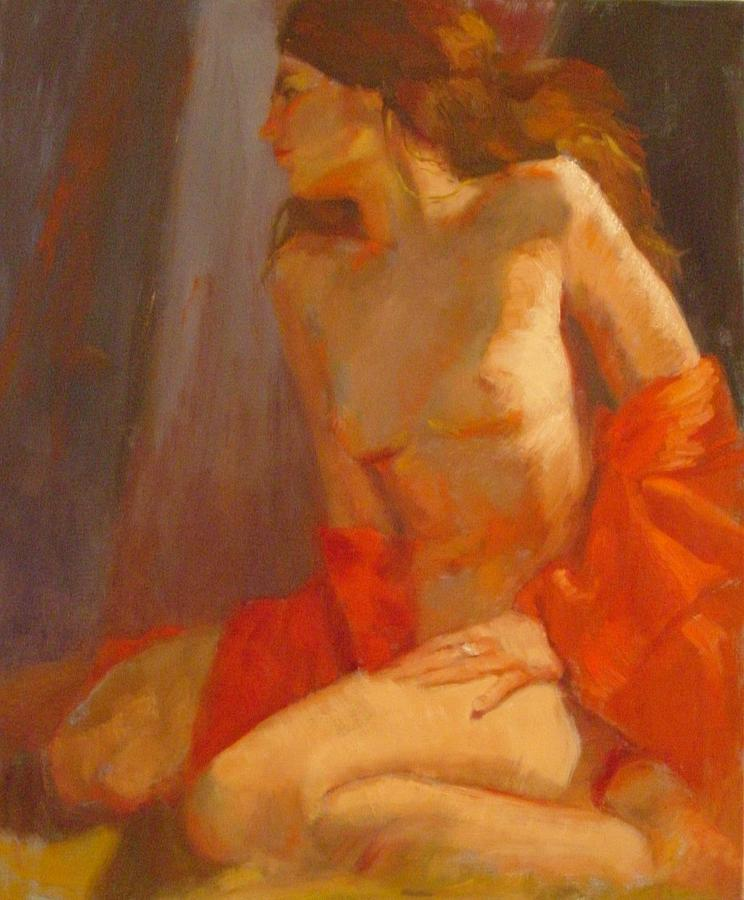 Woman Painting - Passion SOLD by Irena  Jablonski