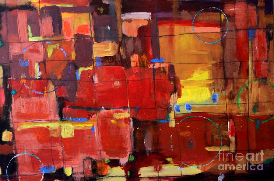 Red Abstract Painting - Passion by Kelly Athena