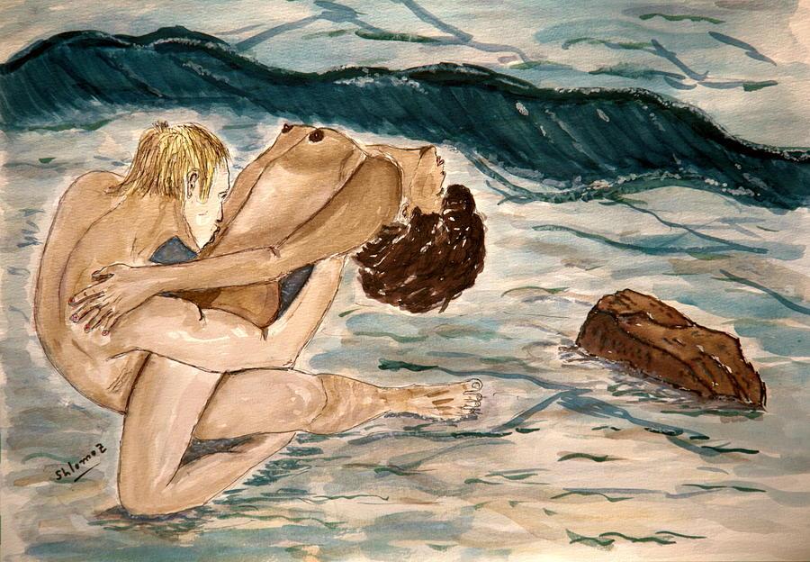 Woman Poster Painting - Passion Of Love. by Shlomo Zangilevitch