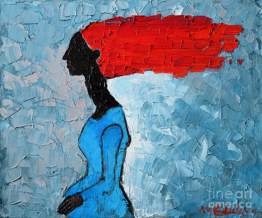 Woman Painting - Passion Seeker by Ana Maria Edulescu