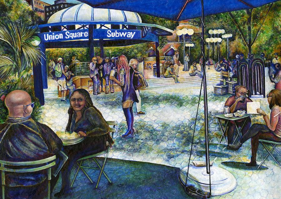Market Place Painting - Passionate People Playing In The Park by Gaye Elise Beda