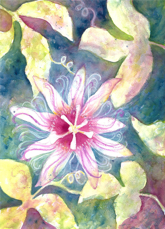 Landscape Painting - Passionflower by Kelly Perez