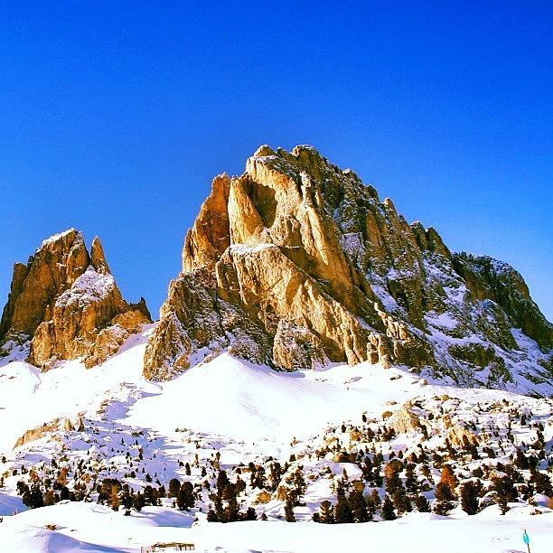 Dolomiti Photograph - Passo Sella - Sasso Lungo by Luisa Azzolini