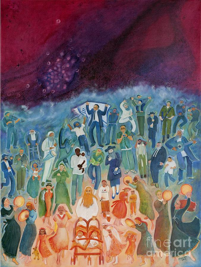 Passover Painting - Passover Not Only Our Fathers by Chana Helen Rosenberg