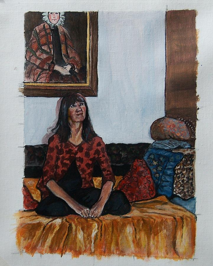 Self Portrait Painting - Past And Present by Anne Parker