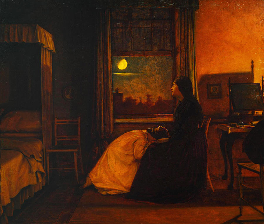 Augustus Leopold Egg Painting - Past And Present by Celestial Images