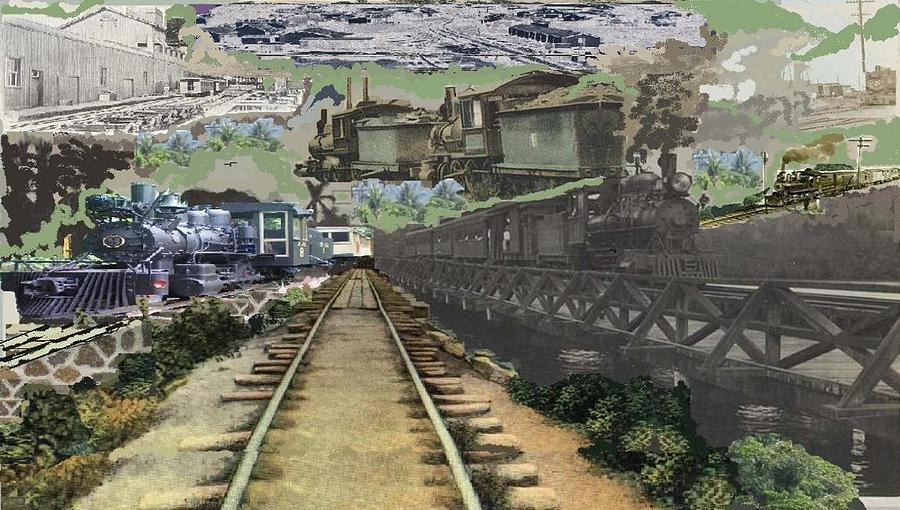 Old Machines Photograph - Past Century Trains by Jose Galindo