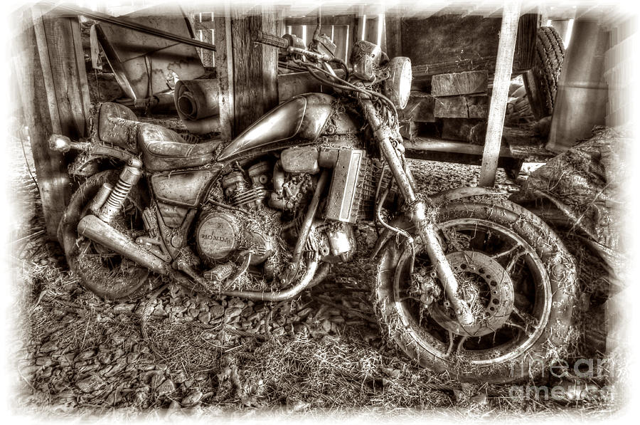 Motercycle Photograph - Past Glory Days by Dan Friend