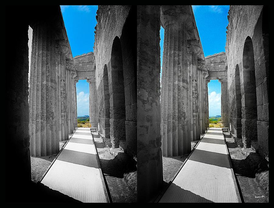 Columns Photograph - Past Present 2 by Madeline Ellis
