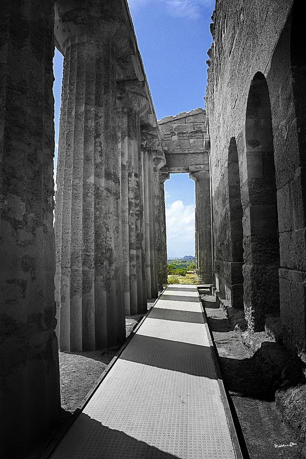 Columns Photograph - Past Present by Madeline Ellis