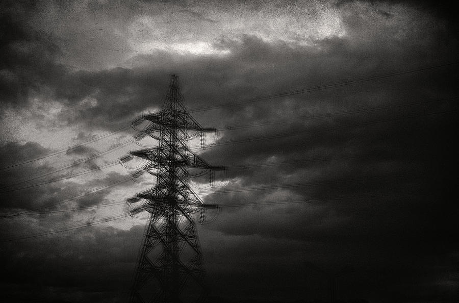 Electricity Wires Photograph - Past by Taylan Apukovska