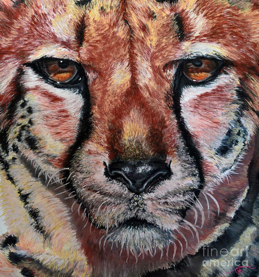 African Wildlife Pastel - Pastel Cheetah by Ann Marie Chaffin