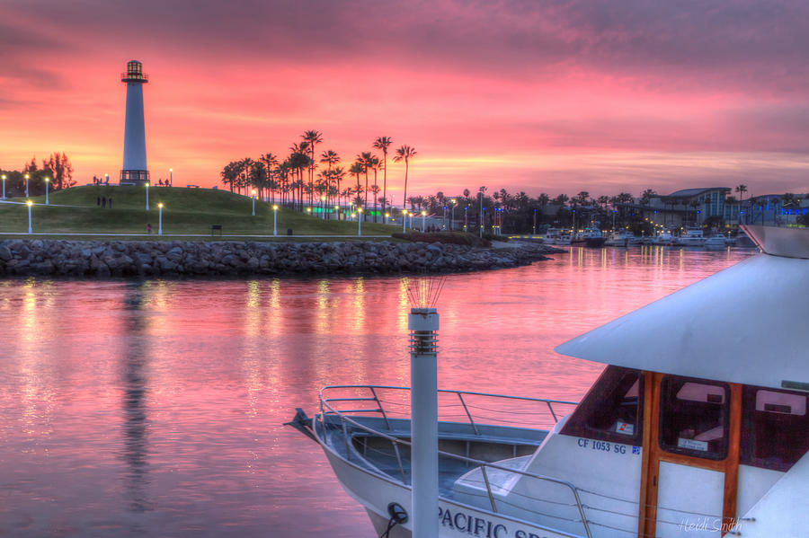 Amusement Photograph - Pastel Colored Sunset by Heidi Smith
