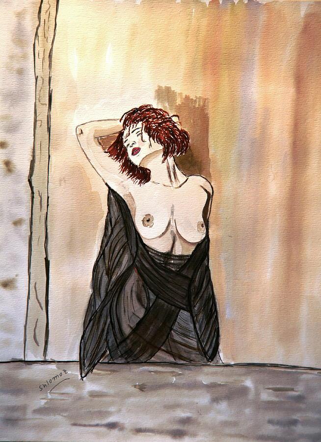 Woman Greeting Cards Painting - Pastel Passion by Shlomo Zangilevitch