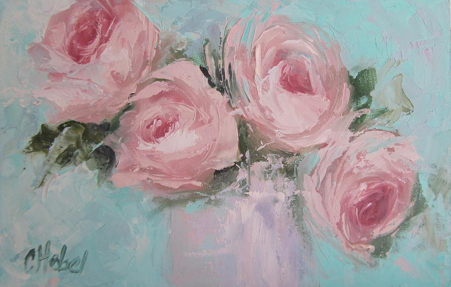 Pastel pink roses painting painting by chris hobel roses painting pastel pink roses painting by chris hobel mightylinksfo