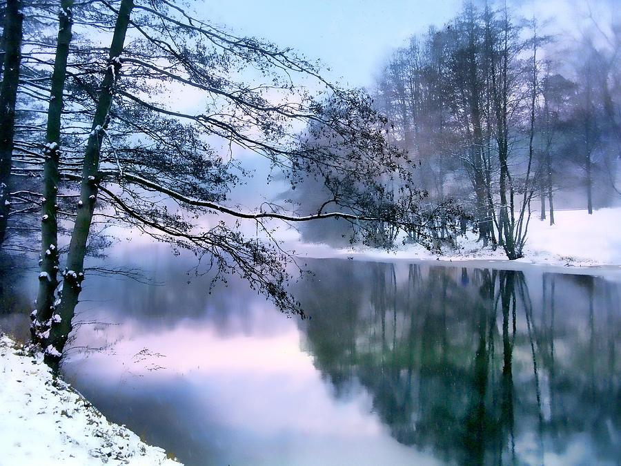 Snow Photograph - Pastel Pond by Jessica Jenney