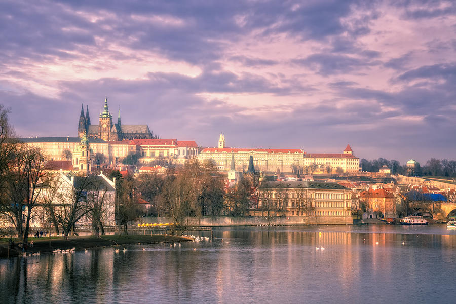 Catholic Photograph - Pastel Prague Morning by Joan Carroll