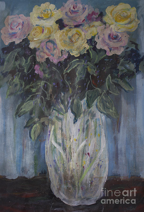 Pastel Roses Painting