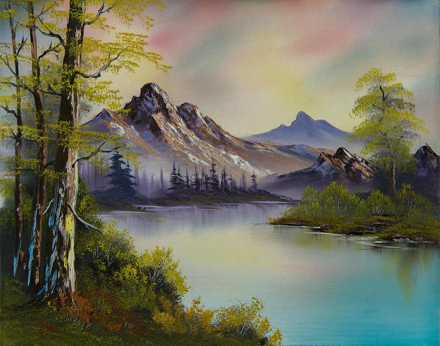 Landscape Painting - Pastel Skies by Chris Steele
