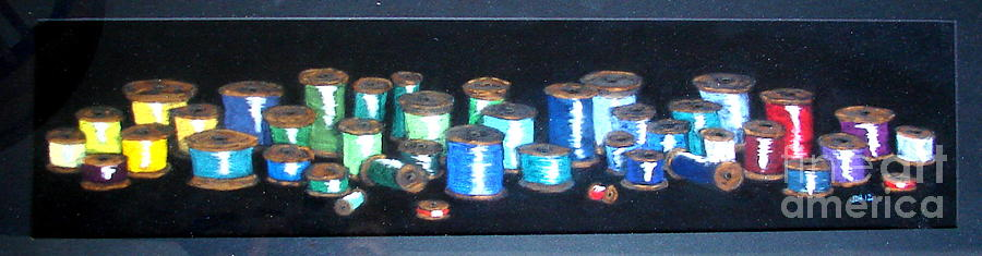 Spools Of Thread Pastel - Pastel Spools-coat Of Many Colors by Joseph Hawkins