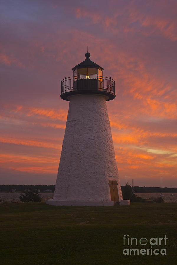 Ned's Point Lighthouse Photograph - Pastel Sunset At Nedspoint by Amazing Jules