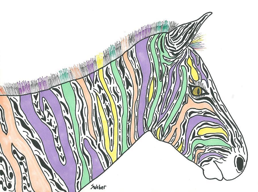 Pastel Painting - Pastel Zebra  by Susie Weber