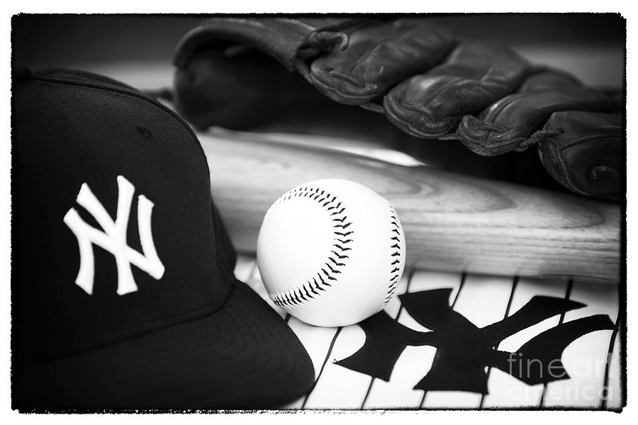 Cap Photograph - Pastime Essentials by John Rizzuto