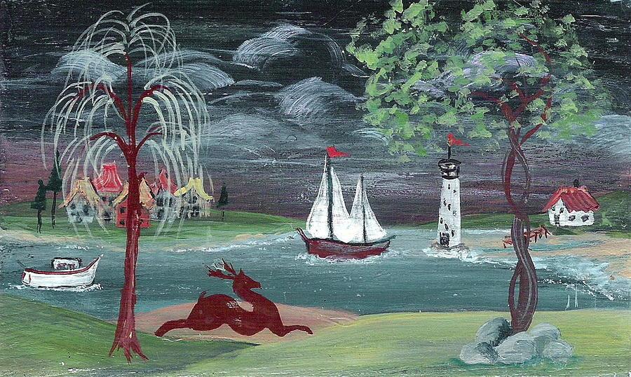 Landscape Painting Painting - Pastoral Landscape by Brenda Ruark