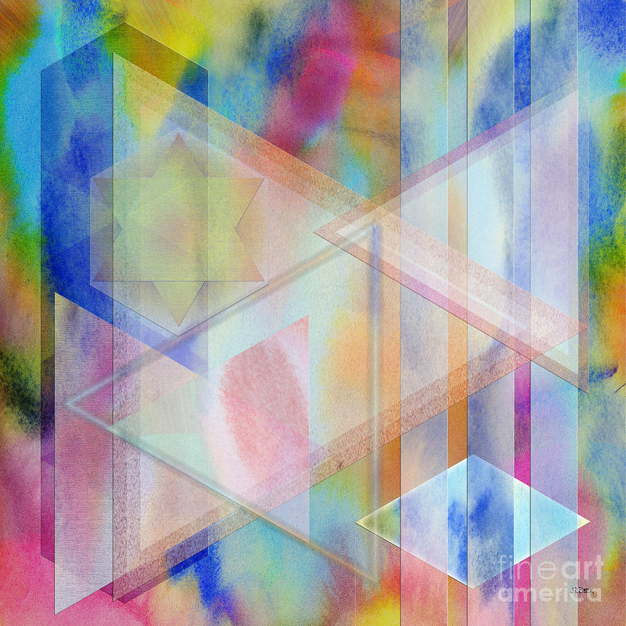 Pastoral Digital Art - Pastoral Moment - Square Version by John Robert Beck