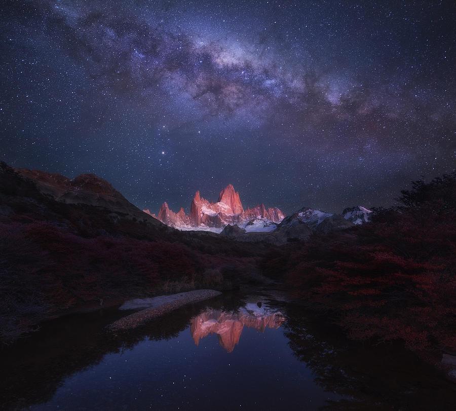 Patagonia Photograph - Patagonia Autumn Night by Yan Zhang
