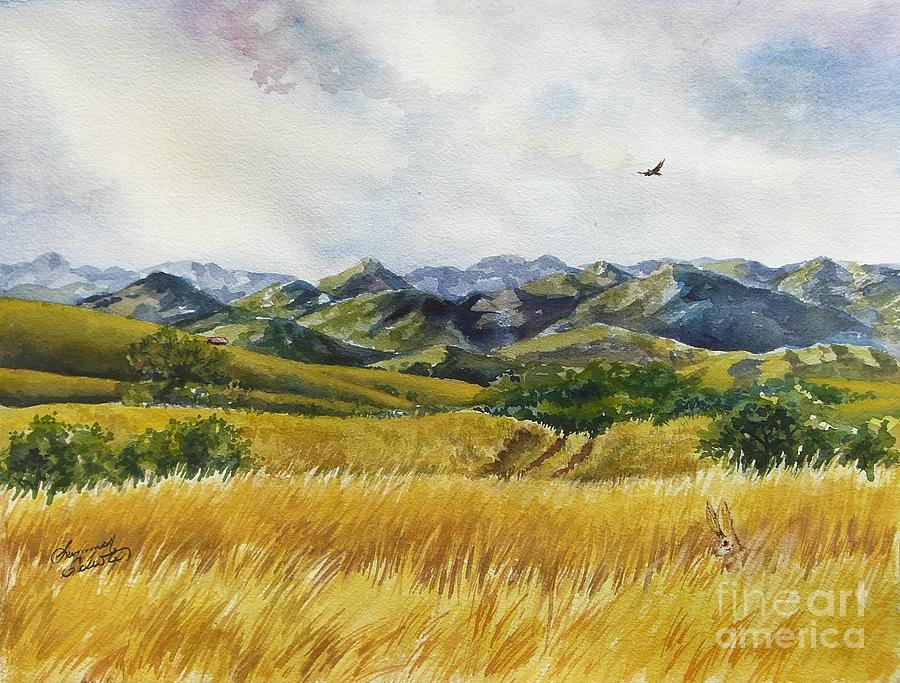 Arizona Painting - Patagonia Just Down The Valley by Summer Celeste