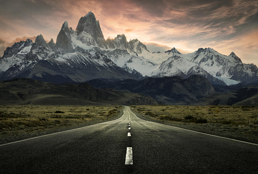 Patagonia Mountain Road Photograph By Jimmy Mcintyre