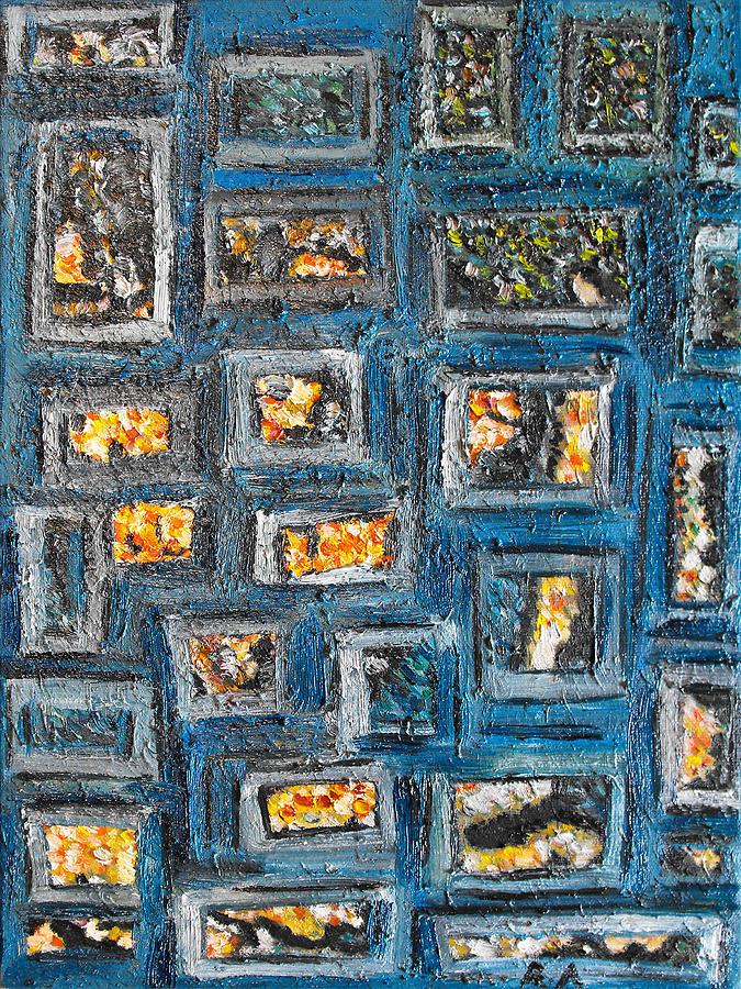 Spot Painting - Patchwork by Agnes Roman