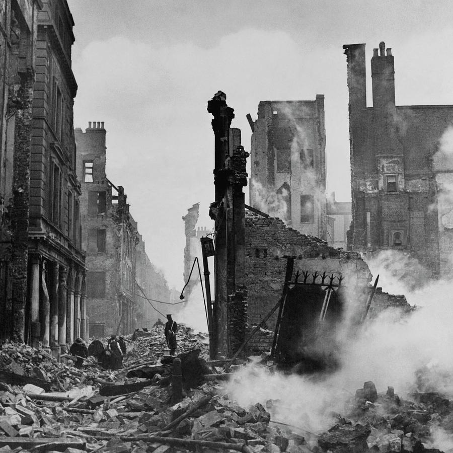 Paternoster Row After Bombing Photograph by Cecil Beaton