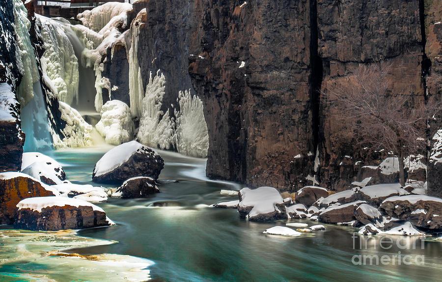 Paterson Photograph - Paterson Falls Frozen Fantasy by Jim DeLillo