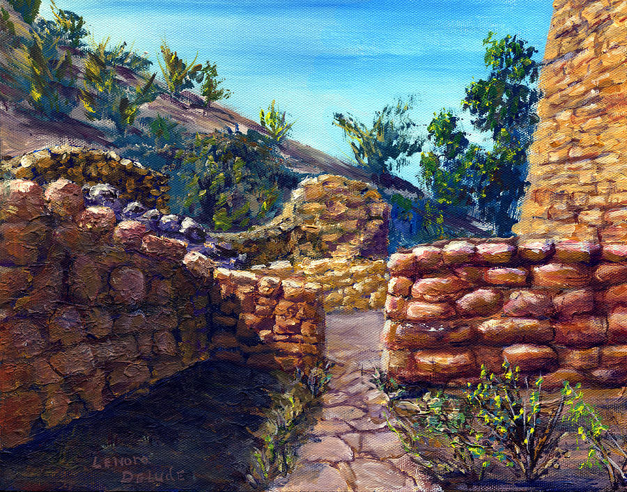 Path Painting - Path At Old Mission by Lenora  De Lude