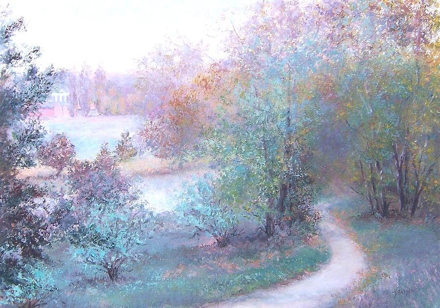 Landscape Painting - Path By The River by Jan Matson