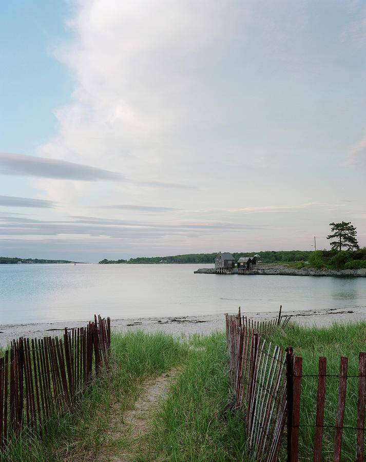 Absence Photograph - Path Down To Willard Beach At Sunset by Mark Marchesi