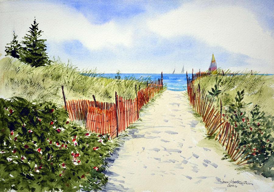 Watch Hill Ri Painting - Path To East Beach-watch Hill Ri by Joan Hartenstein