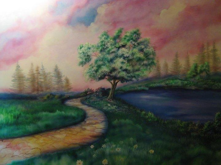 Tree Painting - Path To Glory Panel 1 by Kendra Sorum