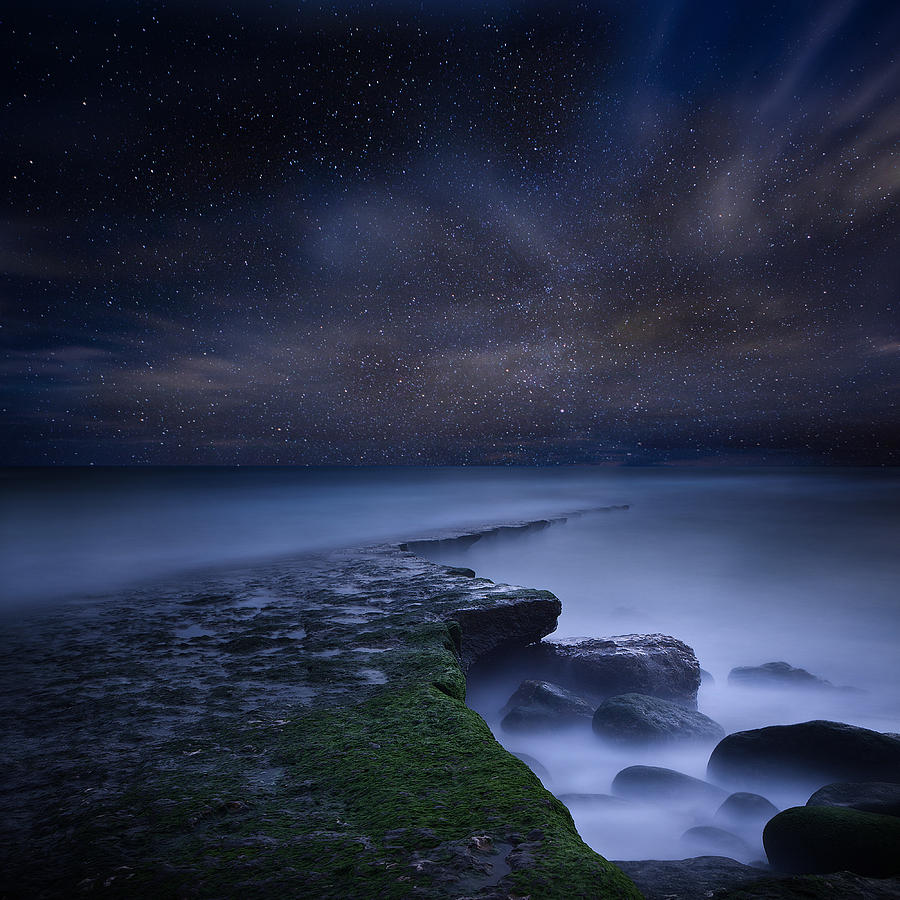 Night Photograph - Path To Infinity by Jorge Maia