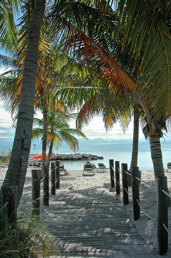 Beach Photograph - Path To Smathers Beach - Key West by Frank Mari